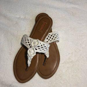 Shoes - White Crochet Sandals